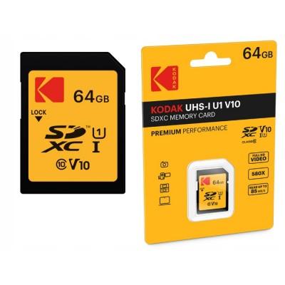 Kodak SD Card SDXC Class 10 UHS-I U1 64GB