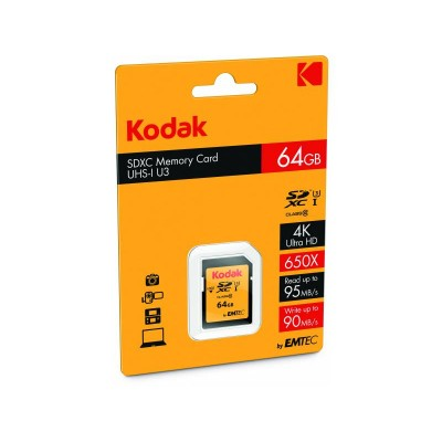 Kodak SDXC Card 64.0GB Class 10 UHS-I U3 V30 A1