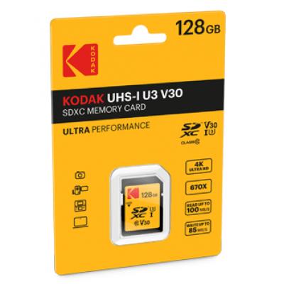 Kodak SDXC Card 128.0GB Class 10 UHS-I U3 V30 A1