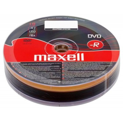 Maxell DVD-R 4.7Gb 120min - 10pack