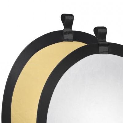 Walimex Foldable Reflector golden/silver, diam.56cm