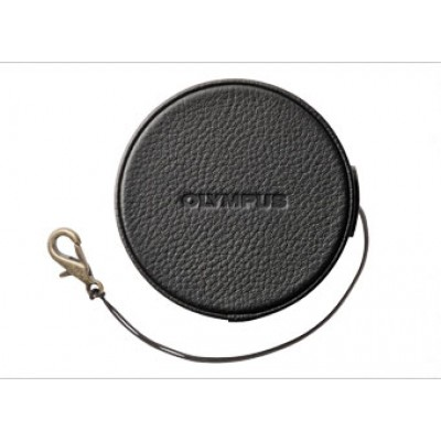 Olympus LC-60.5GL BLK Genuine Leather Lens Cover (60.5mm)- black