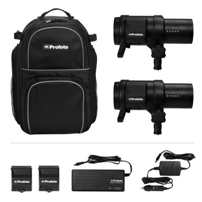 Profoto B1X 500 AirTTL Location Kit (2 x B1, 2 x Li-Ion Battery, Charger 4.5A, Car Charger 1.8A, power cable, Bag M)