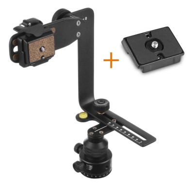 Mantona PanoPoint Panoramahead with Nodalpoint Adapter and 2  Quick Release Plates