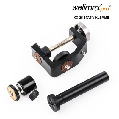 Walimex pro KX-25 Stand Clamp with ball head
