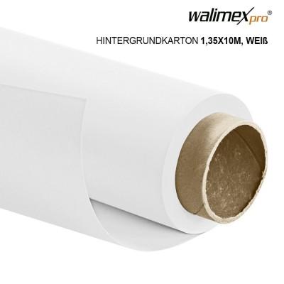 Walimex pro paper background 1,35x10m, white