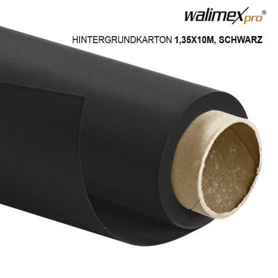 Walimex pro paper background 1,35x10m, black