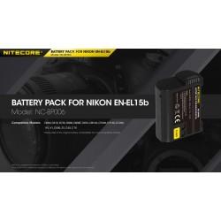 NITECORE ΜΠΑΤΑΡΙΑ for Nikon EN-EL15b, 7.2V , 2040mAh, 14.6Wh