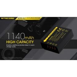 NITECORE ΜΠΑΤΑΡΙΑ for Fujifilm NP-W126S, 7.2V , 1140mAh, 8.4Wh