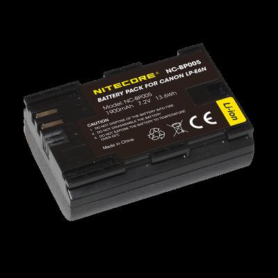 NITECORE ΜΠΑΤΑΡΙΑ for Canon LP-E6N, 7.2V , 1900mAh, 13.6Wh